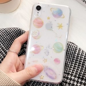 NEW iPhone 7/8 Moon, Stars, and Planets Case